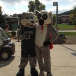 Baxter and the Hinman Mascot, Tiki