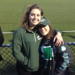 VP of Finance Brenda Gorelik and former Social Media Liaison Traci Rubin take in the men's soccer game on Saturday