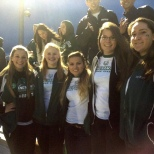 The Cheer team was on hand to watch the men's soccer game on Saturday