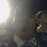 BU Zoo co-founder Ben Ramos was excited during the men's soccer game on Saturday