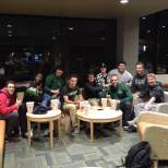 Students had a great time at the viewing party