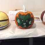 a Bearcats pumpkin was entered in the pumpkin painting contest in C4