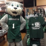 Baxter reminding everyone to purchase our shirt in the Bookstore!