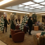 Baxter invaded the Tillman lobby in the union