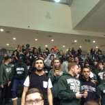 The BU Zoo was packed at the preseason men's basketball game against Oswego