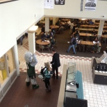 Baxter looked for students wearing green in CIW Dining Hall
