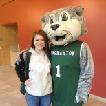 Baxter and BU Zoo VP of Operations Erika Merkel on Green Day Friday