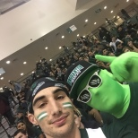 A selfie in front of the packed students section on Tuesday night