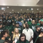 A look at the packed students section on Tuesday night