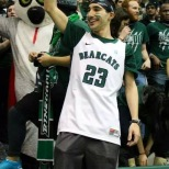 Vice President of Public Relations Brett Malamud got pumped up at the start of the game