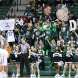 The BU Zoo cheered on the men's basketball team Wednesday night (Via Lauren Hunter)