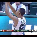 Justin McFadden saluted the Zoo at the conclusion of the game