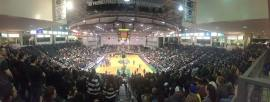 A panoramic view of the Pack The House game Monday February 8 (Photo via Bridget Thomas)