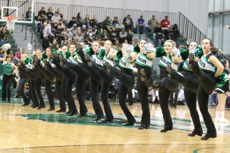 BU Kickline had the crowd on its feet during halftime