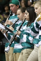 Pep Band The Screaming Green plays the Fight Song
