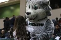 Baxter greets a fan